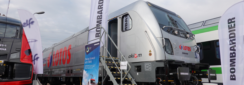 Akiem and Bombardier unveil first TRAXX DC3 locomotive for Poland at TRAKO